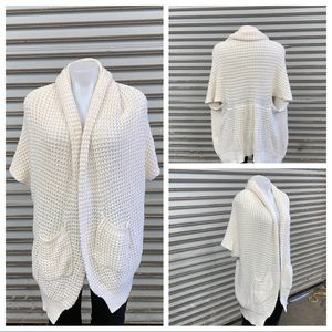Gap size large chunky knit open front cardigan